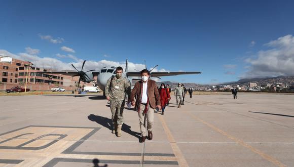 Guido Bellido a su llegada a Cusco para tratar conflicto en Las Bambas (PCM).
