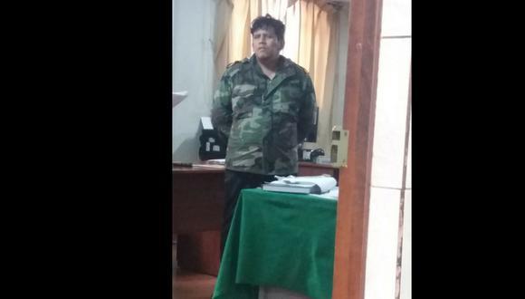 Miguel Bastidas Ramírez (36) fue intervenido dentro del hostal donde ocurrieron los hechos. (Foto: Difusión PNP)