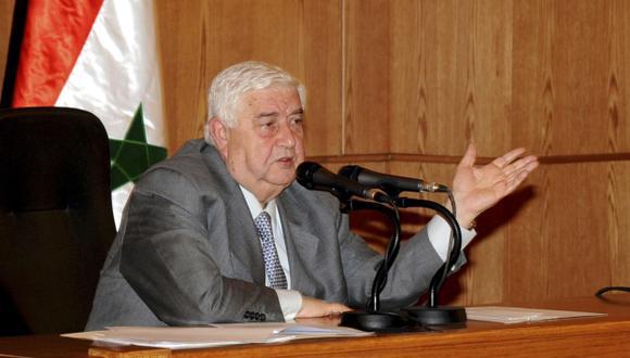 Ministro de Relaciones Exteriores, Walid Mualem, negó que fuerzas sirias cometan crímenes. (Reuters)