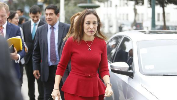 Paloma Noceda, congresista de Fuerza Popular, es la autora de la propuesta que perjudicaría a la FPF. (Perú21)