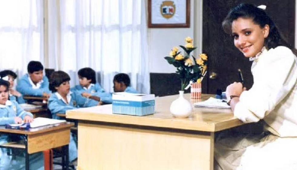 Gabriela Rivero se robó el corazón de toda una generación encarnando a la entrañable maestra Jimena en 'Carrusel'. (Internet)