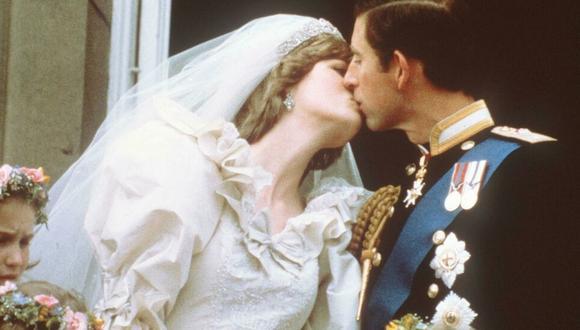 La boda entre Diana de Gales y Carlos de Gales fue el 19 de julio de 1981. (AFP).