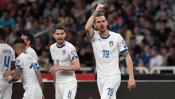 Italia recibe este martes a Bosnia por el grupo J de las eliminatorias a la Eurocopa 2020. (Foto: AFP)