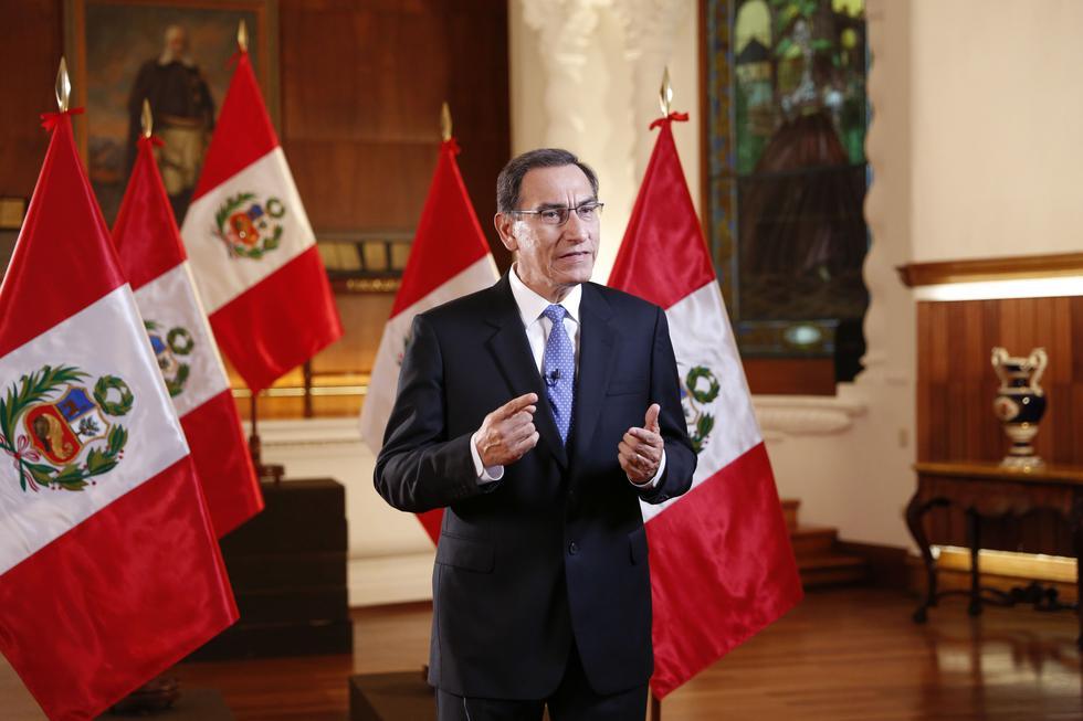 """Martín Vizcarra: """"Exhortamos al Parlamento que proyectos sean atendidos con celeridad"""". (Presidencia)"""
