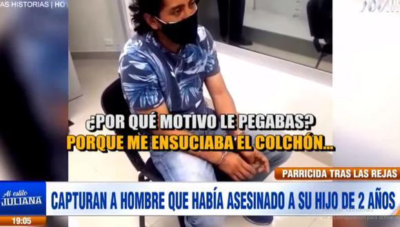 José Martín Córdova Ruiz confesó el parricidio ante los agentes de la División de Homicidios. (ATV)