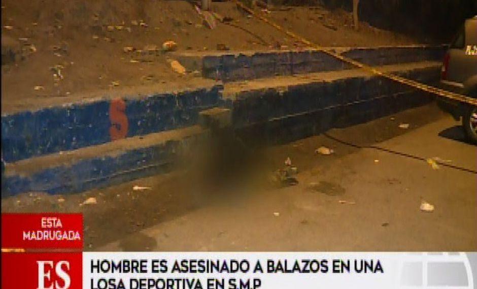Un hombre fue asesinado de ocho balazos en San Martín de Porres.