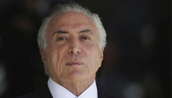 Michel Temer, presidente de Brasil (AP).