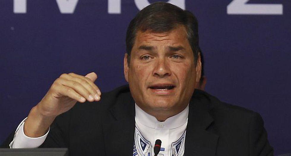 Correa participó de la Asamblea General de la OEA que se desarrolla en Cochabamba. (AP)