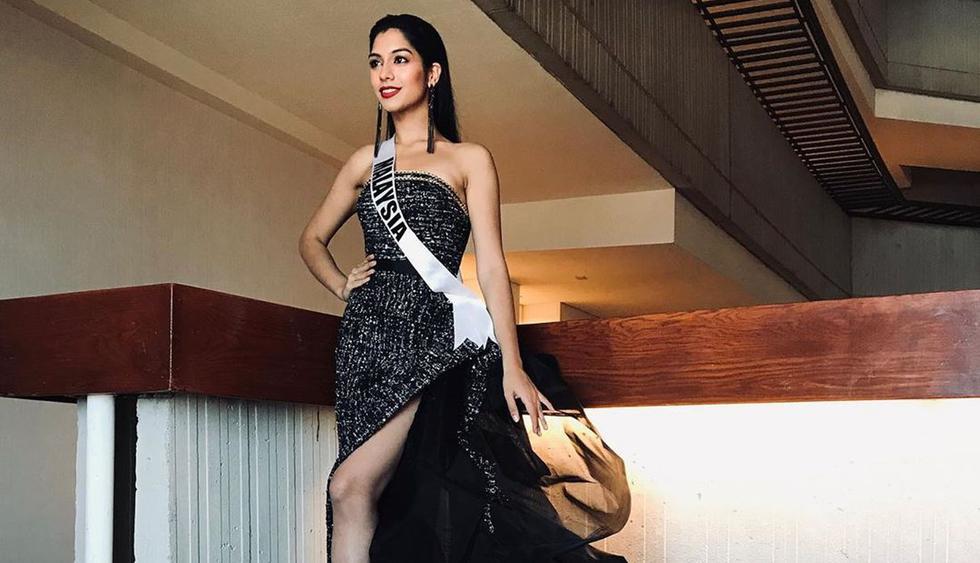 Miss Malasia también la pasó mal en desfile preliminar. (Foto: shweta_sekhon_)