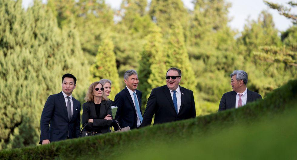 El secretario de Estado estadounidense, Mike Pompeo, inició una visita a Corea del Norte para hablar de la desnuclearización. (Reuters)