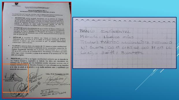 El perito judicial grafotécnico fue Andrés Begazo.