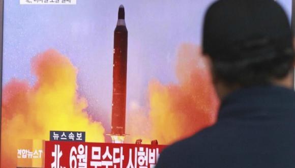 El lanzamiento del misil balístico ocurrió cerca de Sinpo. (Foto: AP)