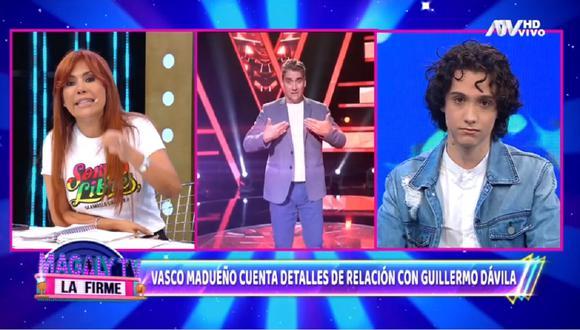 """Hijo de Guillermo Dávila se presentó en el programa de Magaly Medina y recordó cuando su padre biológico lo llamó """"accidente"""". (Foto: Captura ATV)."""