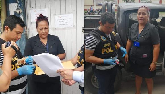 La implicada cayó con el último pago de S/1,500 que los padres de la postulante le habrían entregado.  (Foto: PNP)