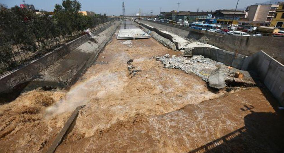TRABAJOS SUSPENDIDOS. Recién en abril próximo se continuarán las obras en lecho del río Rímac. (Rafael Cornejo)