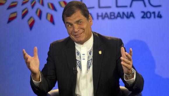 Rafael Correa Rafael Correa felicita a Perú y Chile por superar diferendo. (AP)