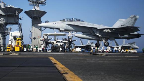 Buque estadounidense desplegado en el Mediterráneo. (AFP)