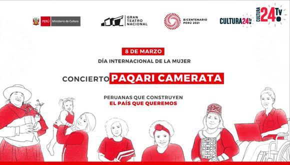 Actividades culturales se desarrollarán del 8 al 10 de marzo y podrán ser vistas por las redes sociales del Proyecto Especial Bicentenario. (Foto: Facebook Proyecto Especial Bicentenario)