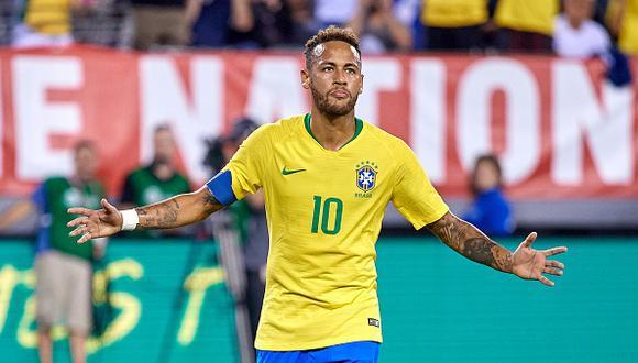 Neymar es el tercer goleador histórico de la selección de Brasil, con 59 anotaciones. (Getty)