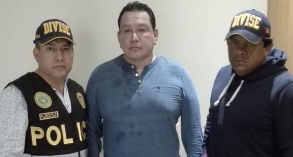 Félix Moreno al momento de su detención en una vivienda de Cieneguilla. (Foto: Mininter)