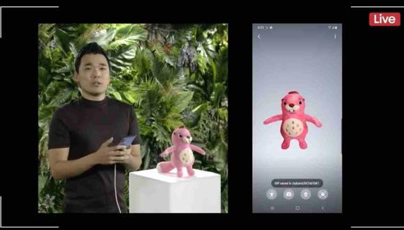El escaneo 3D es una de las características que hacen diferentes a los Galaxy Note 10 y Galaxy Note 10 Plus. (Foto: Captura de Video de Samsung)