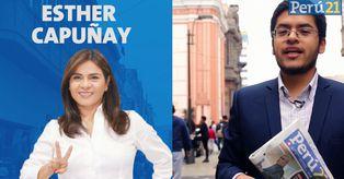 Esther Capuñay, candidato a la Alcaldía de Lima de Unión Por el Perú