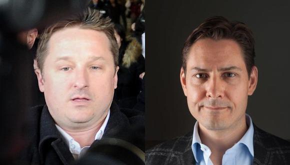 Los diplomáticos Michael Spavor y Michael Kovrig fueron detenidos por le gobierno chino en diciembre del 2018. (Foto: AFP/EFE)