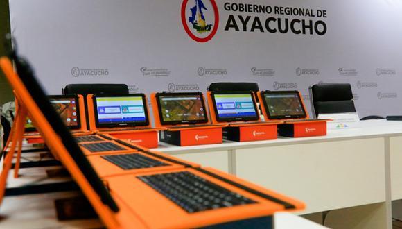 Ayacucho: entregan más de 4 mil tablets para distribuirlas a los estudiantes de la región (Foto: Gore Ayacucho)