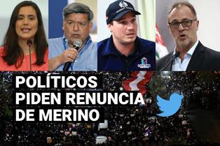 Manuel Merino: Políticos piden que renuncie a la Presidencia de la República