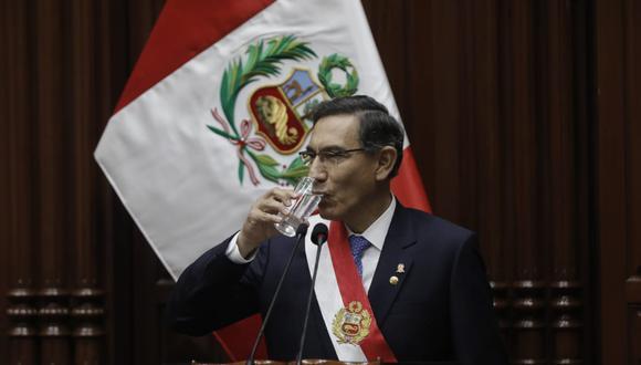Martín Vizcarra llegó al Congreso para dar su mensaje a la Nación por 28 de julio.