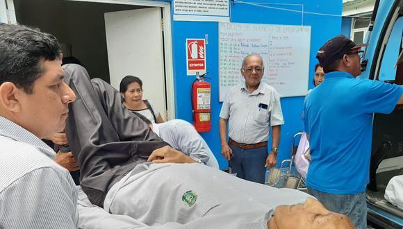 Margarito Machaguay fue llevado a Chiclayo para recibir atención especializada. (Difusión)