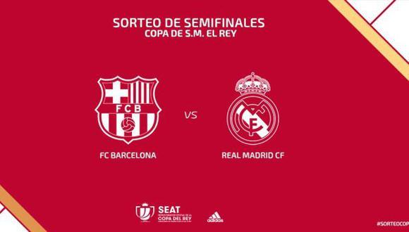 Real Madrid y Barcelona buscarán un lugar en la final de Copa del Rey. (Foto: AFP)
