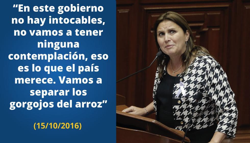 Marisol Pérez Tello, polémica en sus declaraciones, cuestionada en no pocas ocasiones.