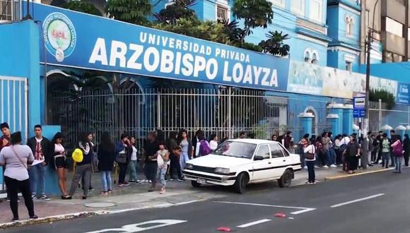 Universidad Arzobispo Loayza tiene un plazo máximo de dos años para cesar todas sus actividades. (Foto: Andina)