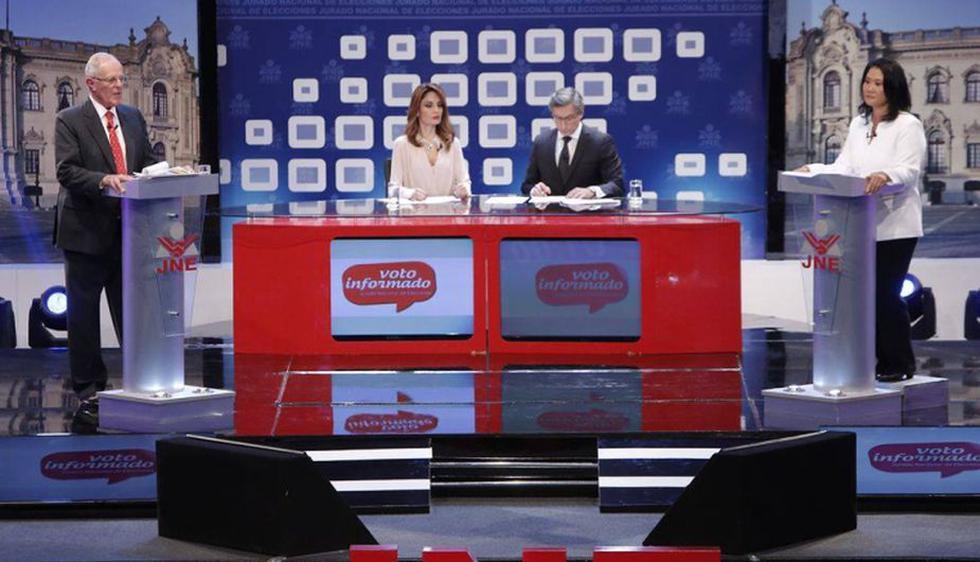 PPK y Keiko Fujimori debatieron sus ideas a una semana del sufragio. (Anthony Niño de Guzmán)