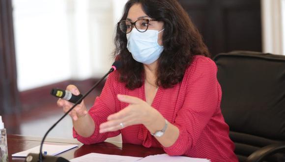 """La primera ministra, Violeta Bermúdez, aseveró que el Ejecutivo """"actúa en base a argumentos"""" al plantear demandas de inconstitucionalidad. (Foto: PCM)"""