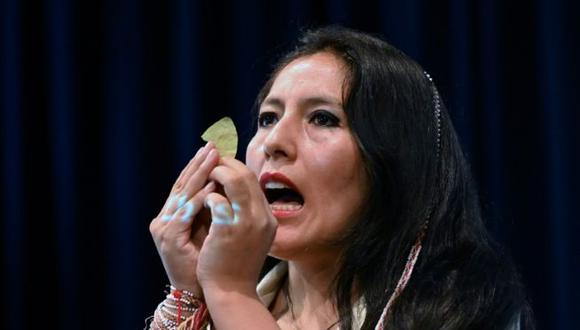 """""""Debe de surgir un respeto por nuestras lenguas, tanto en lo escrito, como en lo oral"""", indicó Quispe Collantes. (Foto: AFP)"""