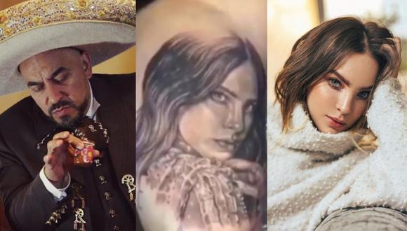 Belinda: Lupillo Rivera se cubrió el tatuaje de la cantante. (Foto: @lupilloriveraofficial/@belindapop).