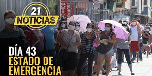 Coronavirus en Perú: Día 43 de estado de emergencia nacional