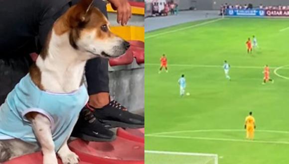 Un peculiar hincha se hizo presente en el encuentro entre Cristal vs. Barcelona en Copa Libertadores