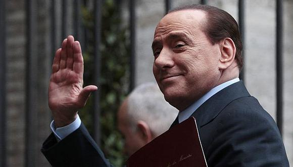 Il Cavaliere regresa. (AP)