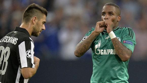PASÓ EL SUSTO. Jefferson Farfán tiene una lesión leve, aunque no jugará mañana con el Schalke. (AP)
