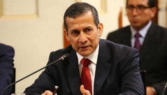 """""""Ya nada sorprende de Alan García"""", señaló el ex presidente Ollanta Humala. (Foto: GEC)"""