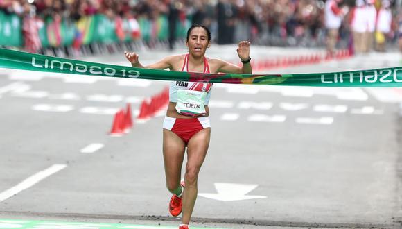 Gladys Tejeda se coronó campeona de la maratón femenina de los Juegos Panamericanos Lima 2019. (Foto: Giancarlo Ávila)