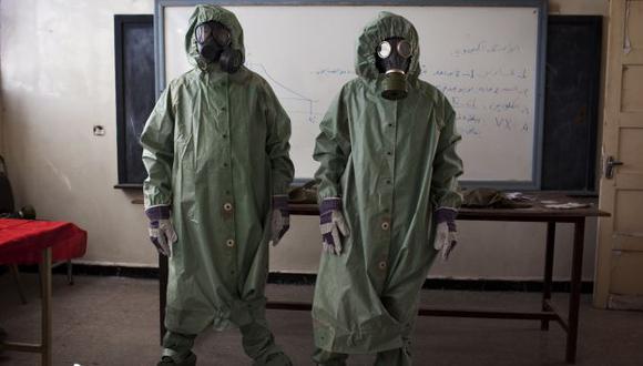 No a las armas químicas. Siria se convertirá el 14 de octubre en el miembro 190 de la OPAQ. (AFP)