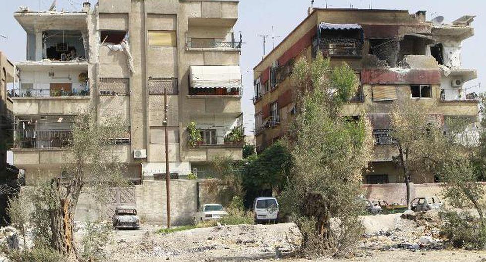 Qaboun, un barrio de Damasco, con señales de bombardeos. (Reuters)
