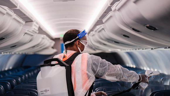 La industria aérea se adapta también en medio de la pandemia del coronavirus. (Fotos: Michael A. McCoy / Getty Images/ AFP)