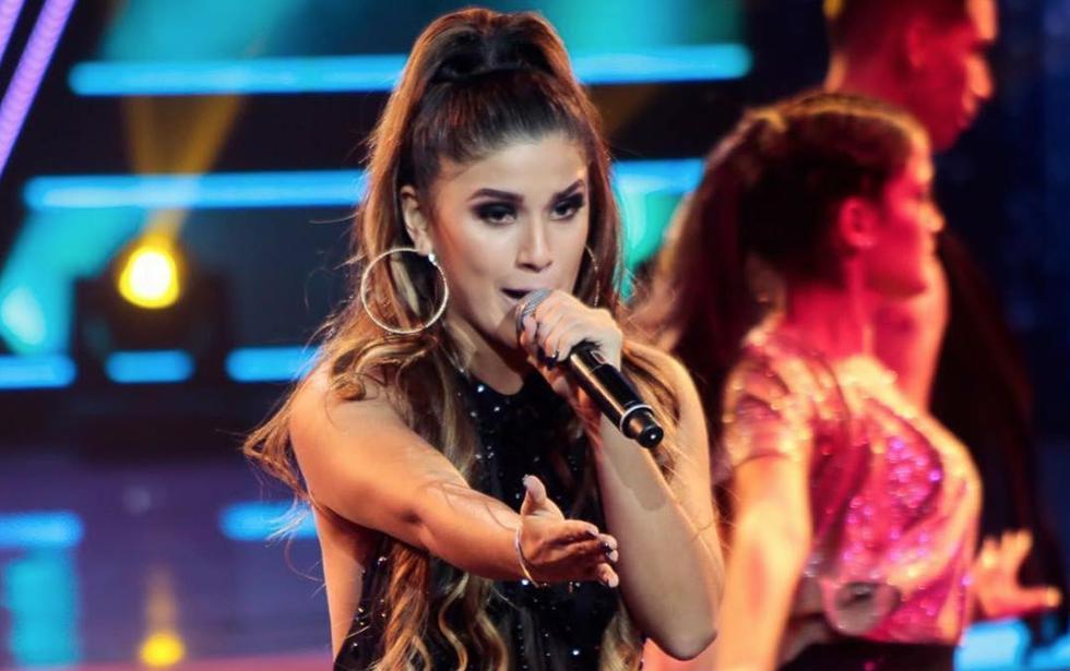 La cantante sorprendió y se coronó como la 'intocable' de la semana. (@yahairaplasencia)