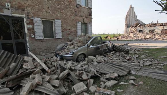 CIUDAD EN RUINAS. El 75 por ciento de las edificaciones de Cavezzo colapsaron por los sismos. (AP)