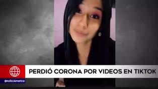 Retiran corona a Miss Perú Junín por publicaciones en TikTok
